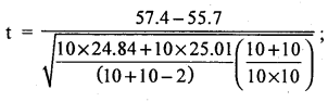 2nd PUC Statistics Question Bank Chapter 6 Statistical Inference - 186