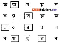 KSEEB Solutions for Class 6 Hindi Chapter 2 वर्णमाला 6