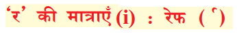KSEEB Solutions for Class 6 Hindi Chapter 5 'र' की मात्राएँ रेफपदेन 1