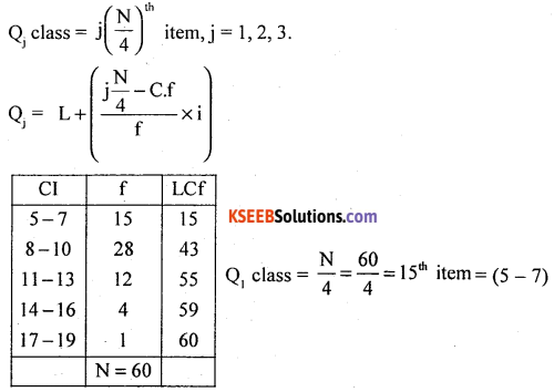 1st PUC Statistics Model Question Paper 3 with Answers - 24
