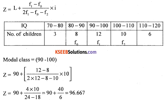1st PUC Statistics Model Question Paper 3 with Answers - 6