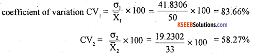 1st PUC Statistics Previous Year Question Paper March 2019 (South) - 33