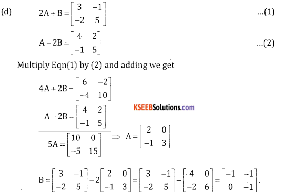 2nd PUC Basic Maths Question Bank Chapter 1 Matrices and Determinants Ex 1.1 - 33