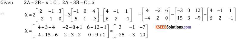 2nd PUC Basic Maths Question Bank Chapter 1 Matrices and Determinants Ex 1.1 - 38