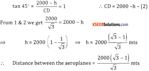2nd PUC Basic Maths Question Bank Chapter 13 Heights And Distances Ex 13.1 - 14