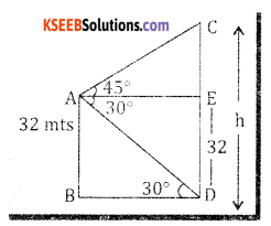 2nd PUC Basic Maths Question Bank Chapter 13 Heights And Distances Ex 13.1 - 24