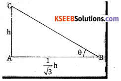 2nd PUC Basic Maths Question Bank Chapter 13 Heights And Distances Ex 13.1 - 4