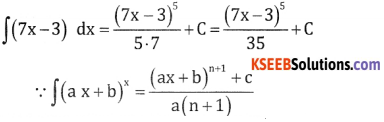 2nd PUC Basic Maths Question Bank Chapter 20 Indefinite Integrals Ex 20.2 - 1