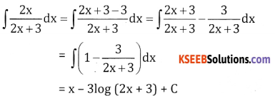 2nd PUC Basic Maths Question Bank Chapter 20 Indefinite Integrals Ex 20.2 - 6