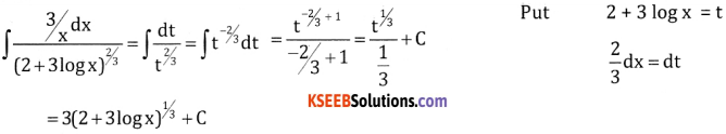 2nd PUC Basic Maths Question Bank Chapter 20 Indefinite Integrals Ex 20.4 - 7