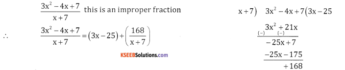 2nd PUC Basic Maths Question Bank Chapter 5 Partial Fractions Ex 5.1 - 2