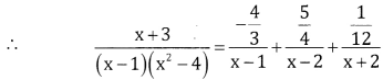 2nd PUC Basic Maths Question Bank Chapter 5 Partial Fractions Ex 5.2 - 12