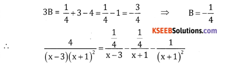 2nd PUC Basic Maths Question Bank Chapter 5 Partial Fractions Ex 5.2 - 15