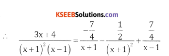 2nd PUC Basic Maths Question Bank Chapter 5 Partial Fractions Ex 5.2 - 16