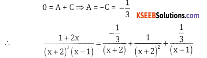 2nd PUC Basic Maths Question Bank Chapter 5 Partial Fractions Ex 5.2 - 19