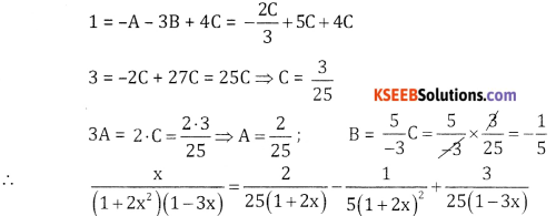 2nd PUC Basic Maths Question Bank Chapter 5 Partial Fractions Ex 5.2 - 22