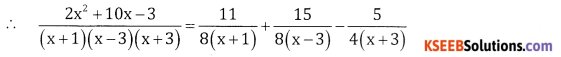2nd PUC Basic Maths Question Bank Chapter 5 Partial Fractions Ex 5.2 - 8