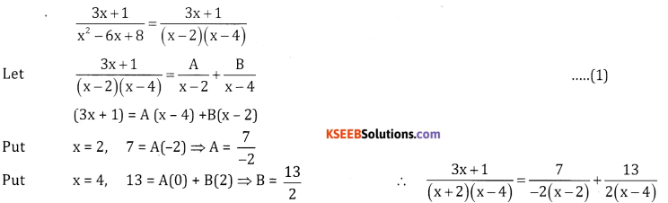 2nd PUC Basic Maths Question Bank Chapter 5 Partial Fractions Ex 5.2 - 9