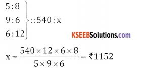 2nd PUC Basic Maths Question Bank Chapter 7 Ratios and Proportions Ex 7.3 - 4