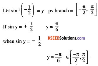 2nd PUC Maths Question Bank Chapter 2 Inverse Trigonometric Functions Ex 2.1 1