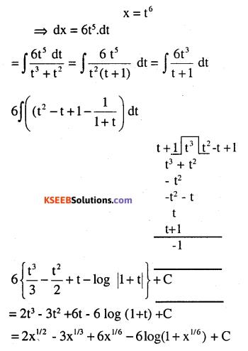 2nd PUC Maths Question Bank Chapter 7 Integrals Miscellaneous Exercise 5