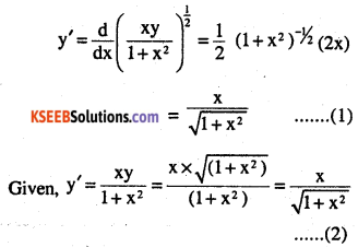 2nd PUC Maths Question Bank Chapter 9 Differential Equations Ex 9.2.2