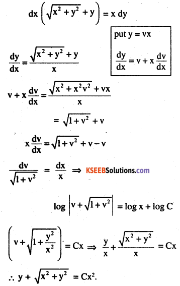 2nd PUC Maths Question Bank Chapter 9 Differential Equations Ex 9.5.10