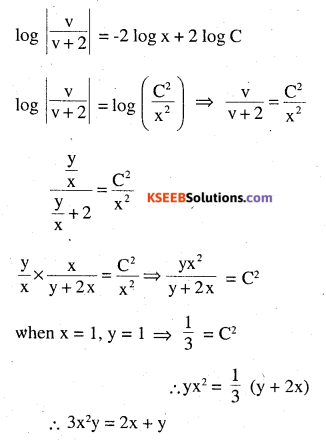 2nd PUC Maths Question Bank Chapter 9 Differential Equations Ex 9.5.23