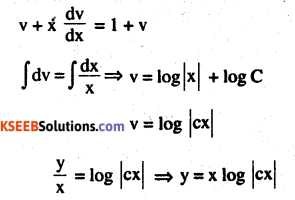 2nd PUC Maths Question Bank Chapter 9 Differential Equations Ex 9.5.4