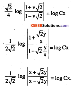 2nd PUC Maths Question Bank Chapter 9 Differential Equations Ex 9.5.9