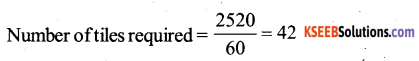 KSEEB Solutions for Class 6 Maths Chapter 10 Mensuration Ex 10.3 61