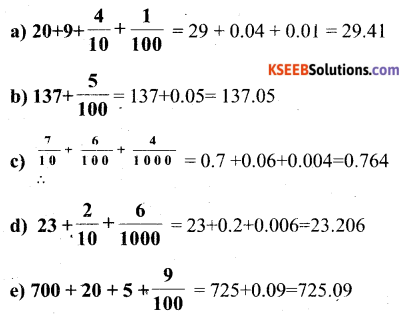 KSEEB Solutions for Class 6 Maths Chapter 8 Decimals Ex 8.2 7