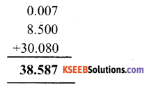 KSEEB Solutions for Class 6 Maths Chapter 8 Decimals Ex 8.5 1
