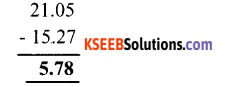 KSEEB Solutions for Class 6 Maths Chapter 8 Decimals Ex 8.6 7