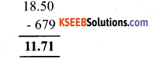 KSEEB Solutions for Class 6 Maths Chapter 8 Decimals Ex 8.6 8