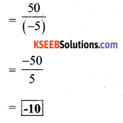 KSEEB Solutions for Class 7 Maths Chapter 1 Integers Ex 1.4 2