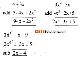 KSEEB Solutions for Class 7 Maths Chapter 12 Algebraic Expressions Ex 12.2 512