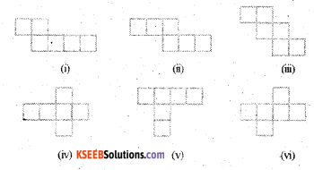 KSEEB Solutions for Class 7 Maths Chapter 15 Visualising Solid Shapes Ex 15.1 1