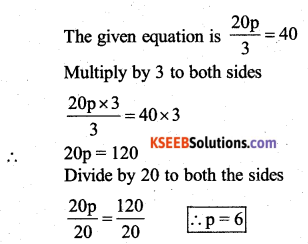 KSEEB Solutions for Class 7 Maths Chapter 4 Simple Equations Ex 4.2 26