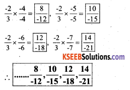 KSEEB Solutions for Class 7 Maths Chapter 9 Rational Numbers Ex 9.1 26