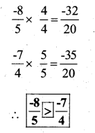KSEEB Solutions for Class 7 Maths Chapter 9 Rational Numbers Ex 9.1 63