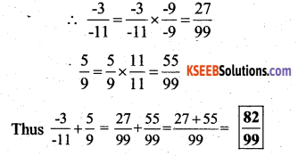 KSEEB Solutions for Class 7 Maths Chapter 9 Rational Numbers Ex 9.2 8