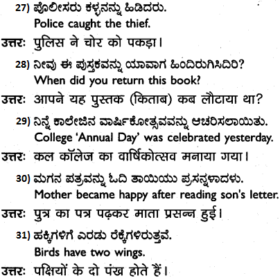 1st PUC Hindi Workbook Answers अनुवाद 5