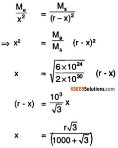 1st PUC Physics Question Bank Chapter 8 Gravitation img 7