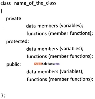2nd PUC Computer Science Classes and Objects Five Marks Questions and Answers 9