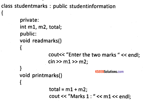 2nd PUC Computer Science Question Bank Chapter 10 Inheritance 2